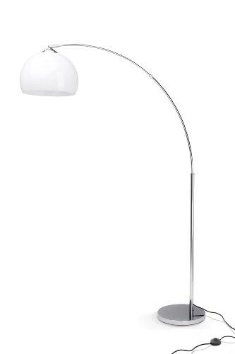 Brilliant Vessa Bogenstandleuchte, 1x E27 max. 60W, chrom/weiß 92940/75