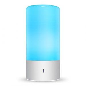 Amzdeal LED Tischlampen 6W dimmbare Nachttischlampe mit 7 Farbwechsel und 3 Helligkeitsstufen Nachtlicht mit Berührungssensor