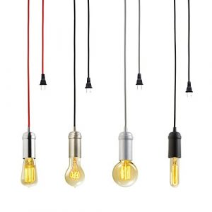 KINGSO Edison Modern Hängelampe Vintage Metall Pendelleuchte Kronleuchte DIY Lampe mit E27 Lampenfassung,Stecker,Schalter und Zertifikat rot bronze