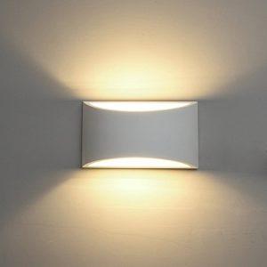 DECKEY 3W LED Wandleuchte Gipslampe Wandlampe modern Design aus Gips LED Wandbeleuchtung Warmweiß