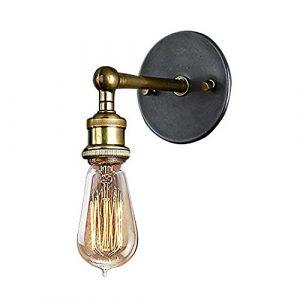 Signstek E27 Retro Industrie Industrielampe Wandleuchte aus Messing
