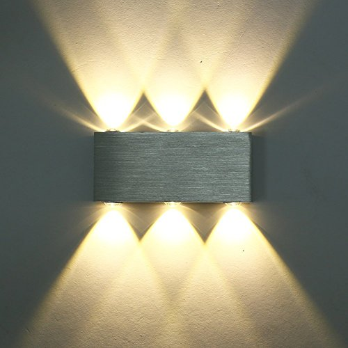Glighone 6W LED Wandleuchte Innen Up Down modern Wandlampe aus ...