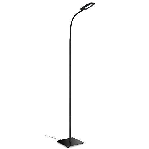 Aglaia Stehlampe Dimmbare, Touch Stehleuchte LED Schwenkbare 6.8W mit 3 stufen Helligkeit, 4000K Natur Weiß für Schlafzimmer, Wohnzimmer (Schwarz)