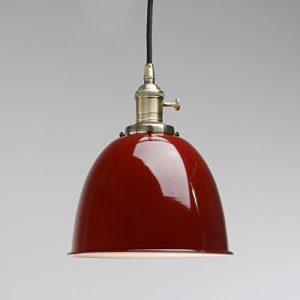 Pathson Industrie Loft-Pendelleuchte Antik Deko Design Metall Schirm innen Pendelleuchte Hängeleuchte Vintage Hängelampen Hängeleuchte Pendelleuchten (Rot)