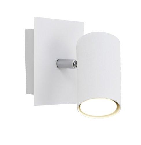 Trio Leuchten Spot in Metall weiß, exklusiv 1xGU10, 12 x 12 cm 802400101