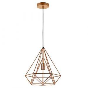 [lux.pro] LED Hängeleuchte Industria – Kupfer / Deckenleuchte (1 x E27 Sockel)(37cm x Ø 40cm) Hängeleuchte / Vintage / Retro Design / Industrial Design (Kupfer)