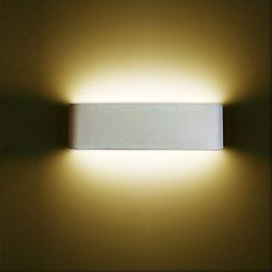 12W LED Wandleuchte Wandlampe Minimalistische Up Down Innen mit Moderne Wandbeleuchtung Perfekt für Schlafzimmer,Badezimmer,Badlampe,Wohnzimmer,Spiegelschrank,Badleuchten,Nachttischlampe,Spiegelleucht