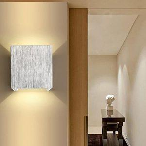 AGPtek moderne 3W LED Wandleuchte innen Wandlampe Flurlampe Treppenleuchten Deckenleuchte für Wohnzimmer, Schlafzimmer