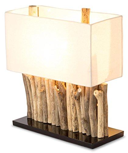 Lampe Tischlampe / Tischleuchte aus recyceltem Holz - Holzlampe Treibholz 16x35cm 40cm hoch - Jede Lampe ein Unikat