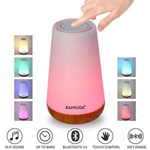 Nachttisch Lampe, kainuoa LED Touch Licht Tragbare Mood Lampe mit Bluetooth Lautsprecher dimmbar Tisch Lampe Wiederaufladbar Nacht Licht für Kinder Wireless Lautsprecher Musik Player für Wohnzimmer/Sc
