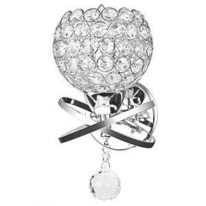 Annstory Moderne Kristall Wandleuchte LED Kreative Wandlampe Wandlicht für Schlafzimmer, Wohnzimmer, Diele, Esszimmer, Bett, Halterung E14 Sockel (Silber)