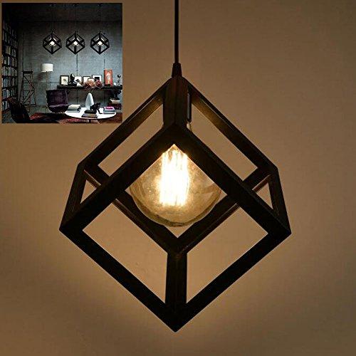 Pendelleuchte Vintage Edison Eisen Retro Lampenschirm Loft Kreative Kronleuchter Metall Deckenbeleuchtung / Hängeleuchte mit E27 Lampenfassung