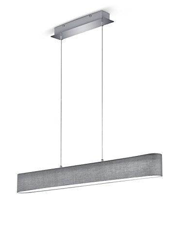 Trio Leuchten LED Pendelleuchte, Nickel, Integriert, 18 W, Grau, 8.5 x 100 x 150 cm