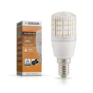 SEBSON E14 LED 3W Lampe EEK A+ vgl. 25W Glühlampe – 240 Lumen – E14 LED warmweiß – LED Leuchtmittel 160°