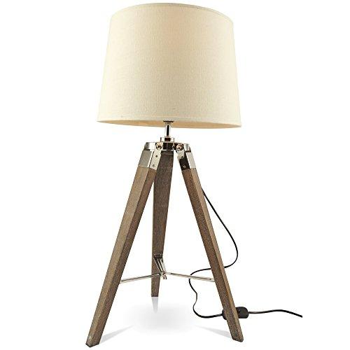MOJO® Tischlampe Tripod Lampe Dreifuss Urban Cool Design Höhe ca. 65cm mq-l36