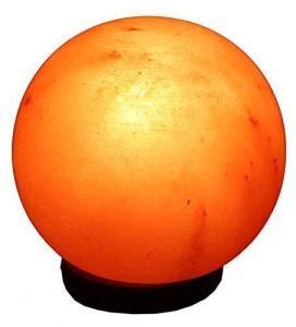 Salz Lampe Kugel 3-5 kg Kristallsalzlampe Salzleuchte rund
