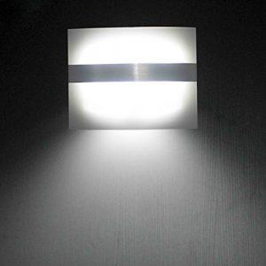 LEADSTAR Acryl Wandleuchte drahtlos Bewegungsmelder Batteriebetriebene Nachtleuchte für Treppenhaus Korridor Garten Garage – Kaltweiß