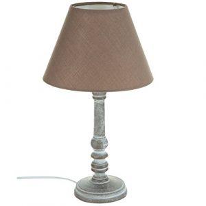 Nachttischlampe – Schlichter Stil – Farbe TAUPE patiniert