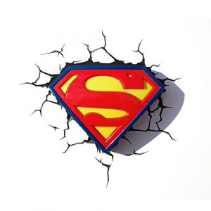 DC Comics Superman Wandleuchte 3D-Logo