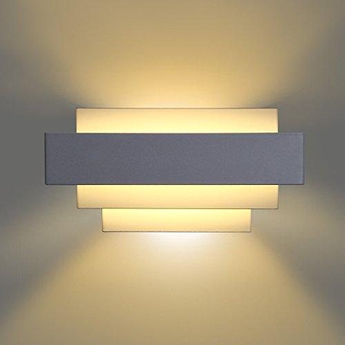 Albrillo LED Wandleuchter Innen 10W Warmweiß aus Aluminium