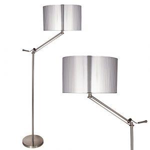 [lux.pro] Stehleuchte Stehlampe (1 x E27 Sockel)(165 cm x 45 cm) Wohnzimmerlampe Leuchte Standleuchte – silber