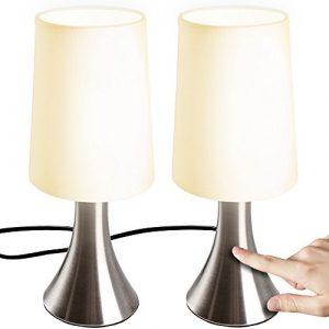 Jago Set 2-Touch-Tischleuchte mit 3Stufen-Leuchtmittel Licht