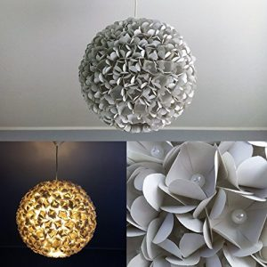 Grey Pearlflower, Lampe Leuchte Lampenschirm Pendelleuchte Pendellampe Hängeleuchte Hängelampe Papierleuchte Papierlampe Reispapierlampe Designerlampe Wohnzimmerlampe Schlafzimmerlampe Deckenlampe