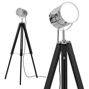 [lux.pro] Stehleuchte Tripod (1 x E27 Sockel)(64cm – 140cm) Industrial Design Dreifuss Dreibein Tripod Teleskop Chrom Stehlampe Leuchte