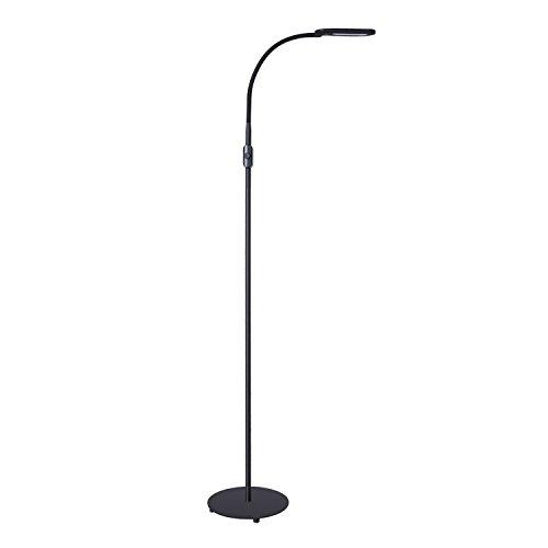 AUKEY Stehlampe LED Moderne Standleuchte, Dimmbar mit Flexiblem Hals, Naturweiß Leselampe für Schlafzimmer, Wohnzimmer oder Kinderzimmer