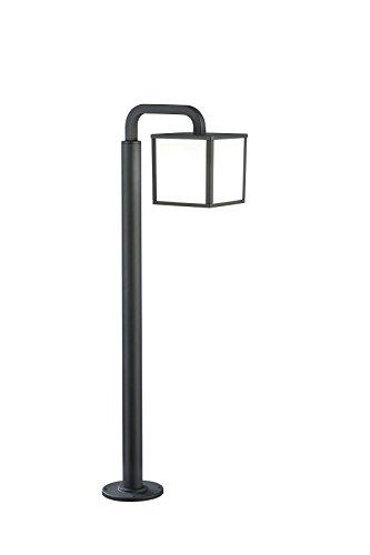 Trio Leuchten LED-Aussen-Stehleuchte Cuganbo Aluminiumguss, anthrazit, Schirm Acryl weiß 421560142