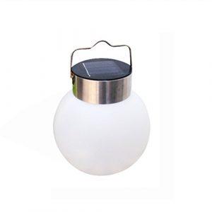 LEDMOMO Solar Lichter Hänge Globus Licht Pure White LED für Terrasse Hof Fenster Decor Party Baum Dekorative Garten Lampe (weißes Licht)