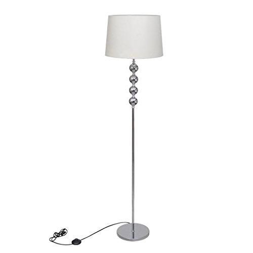 vidaXL Stehlampe Stehleuchte Lamp Wohnzimmer Standleuchte Lampeschirm Dekor weiß