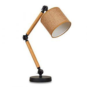 Leuchte Lampe Schreibtischlampen HöLzern Beleuchtung Nacht Falten Langer Arm Massivholz Dekorativ Zum Schlafzimmer Bedside BüRo Lesen Von AOKARLIA