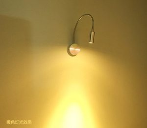 yyhaoge flexibel LED, Projektor, Licht Lampe Wandleuchte, Nachttischlampe, Ellenbogen, Foto, Lampe, Beamer, TV, Wandleuchte im Hintergrund 3W lumière blanche