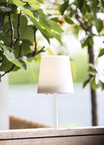 LED Solar Tischlampe Außenlampe Gacoli Checkmate No.1 Table white IP54 ca. 23,5 cm Hoch