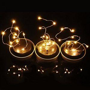 Conqueror Solar Mason Jar Lampe, Multicolor Hängeleuchte Solar Light Outdoor Innen Glas Lampe Beleuchtung für Partys, Garten, Innenhof Garten Veranda ,Outdoor, Gathering (Warmweiß)