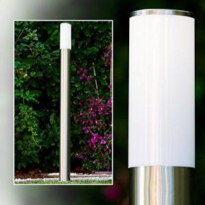 Stehlampe aus Edelstahl