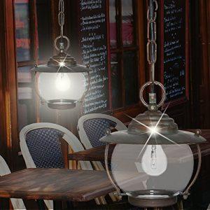Schiffs Hänge Leuchte AUSSEN Ø220mm/ Antik/ Maritim/ Braun/ Rost/ Messing/ Pendel Lampe Aussenlampe Aussenleuchte Hängelampe Hängeleuchte Pendellampe Pendelleuchte