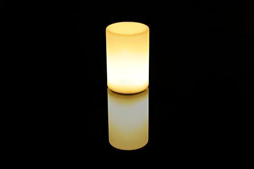 Imagilights Cylindro LED Tischlampe, 24 Farben mit Farbwechsel, Kerzenmodi, Höhe ca. 15 cm, Durchmesser ca. 10 cm, rund, kabellos, mit Akku, inklusive Ladegerät, wasserdicht, stoßfest