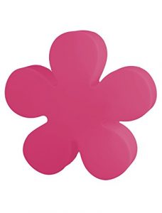 8 seasons design | Beleuchtete Blume Shining Flower (E27, Ø 40cm, Innen- & Außenleuchte, Deko Gartenbodenleuchte, Nachttischlampe, Mädchenlampe) pink