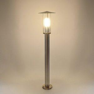 Aussenleuchte Standleuchte Wegeleuchte Standlampe Gartenleuchte Edelstahl Glas E27 Fassung 258-800