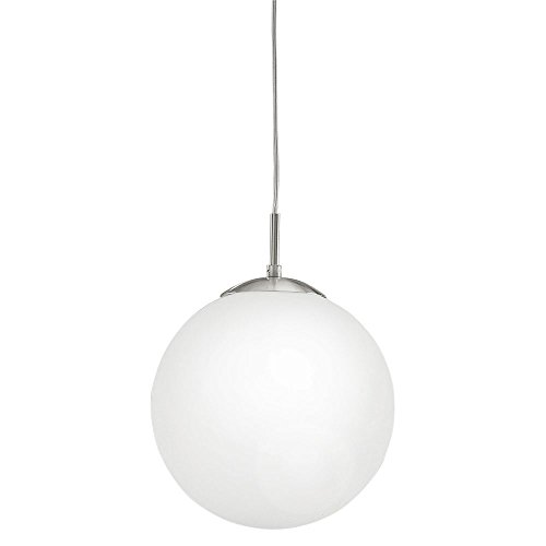 EGLO 93198 Kugel Pendelleuchte, Metall, E27, weiß