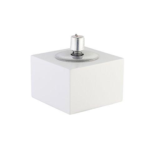 Gartenfackel Öllampe Tischlampe Faserzementfuß inkl. Docht & Löschglocke weiß