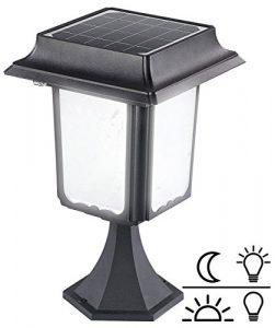 Lunartec Gartenlaterne Solar: LED-Bodenlaterne für Garten, mit 4-W-Solarpanel, 8 LEDs, 70 lm, IP44 (Solar Standleuchte)