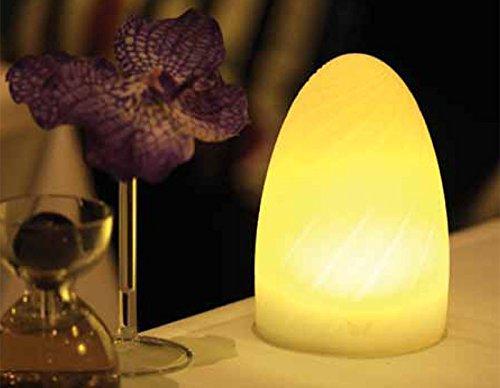 Imagilights Gherkin LED Tischlampe, 24 Farben mit Farbwechsel, Kerzenmodi, Höhe ca. 15 cm, Durchmesser ca. 10 cm, Ei-förmig, Kabellos, mit Akku, Inklusive Ladegerät, Wasserdicht, Stoßfest