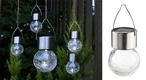 Gravidus 5er Set dekorative Solar-Hängeleuchten