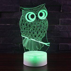 3D Projektion Lampe, TechCode® Individualität 3D Kunstskulptur Kreative Dekorative Nachtlicht LED Tischleuchte Romantische Freunde Geschenke Versenden (A21)