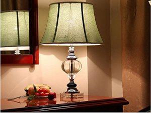American Glass Kristall Tischlampe Chinesische klassische kreative Einfach Wohnzimmer Retro Schlafzimmer Nachttischlampe Europäische Leuchten