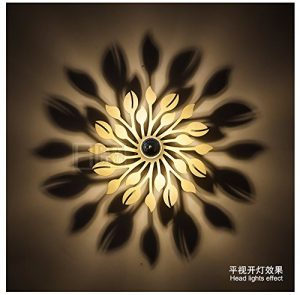 YU-K Einfache Vintage Schlafzimmer Wand Lampe kreative Wohnzimmer Esszimmer leuchten Gang leuchten Wandleuchte Hintergrund Wandleuchte Schlafzimmer Nachttischlampe led Schatten Wandleuchte Blume für die Medien 30 CM