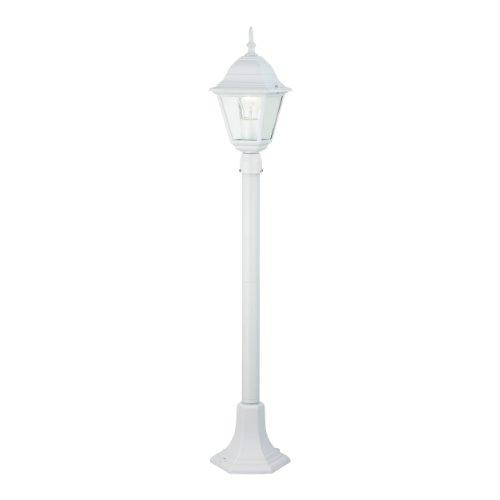 Brilliant Newport Außenstandleuchte, 1x E27 max. 53 W, Metall / Glas, weiß 44285/05